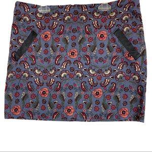 Joe Boxer Floral Mini Skirt Large